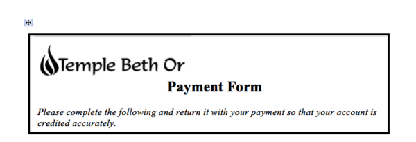 Form Payment